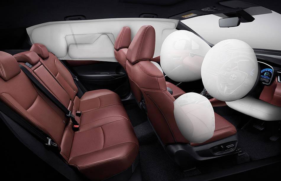 Hệ thống túi khí trên Corolla Cross 2021
